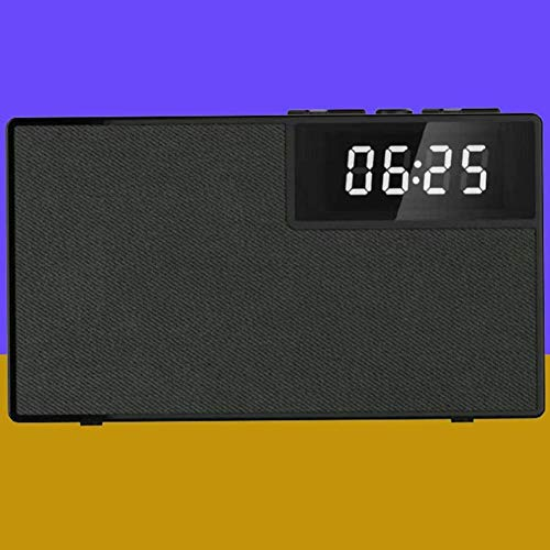 HAOHAO Wake Altavoz inalámbrico Bluetooth, LED portátil de Relojes 360 Manos Libres Altavoz Surround Inteligente teléfono Sencillo PM subwoofer Negro,Negro