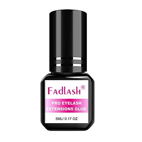 Pegamento de Pestañas 5ml Pegamento de Extensión de Pestañas 1-2 Second Eyelash Extension Glue Cola de Pestañas de Secado Rápido