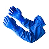LANON PVC Coated Chemical Resistant Gloves, Reusable Heavy Duty Safety Work Gloves, Acid, ...