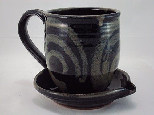Midnight Sun Pottery Ceramic Microwave Bacon Cooker - Black