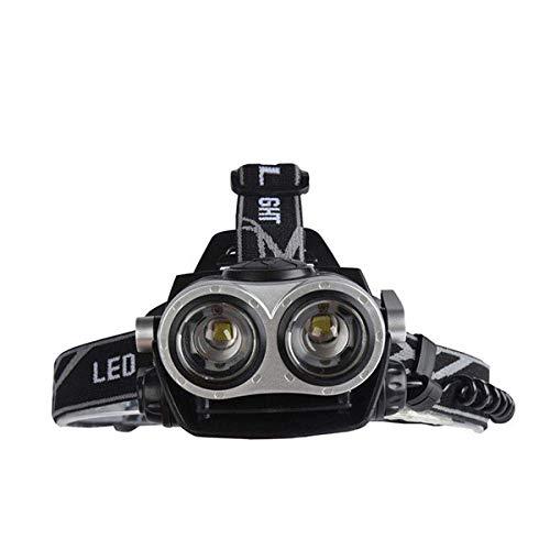 Faros delanteros USB Power Led Faros delanteros con zoom impermeable 5000 Lumen 2 LED Nuevo xml t6 Lámpara de cabeza Antorcha Caza Luz de pesca Luz de cabeza OrderA