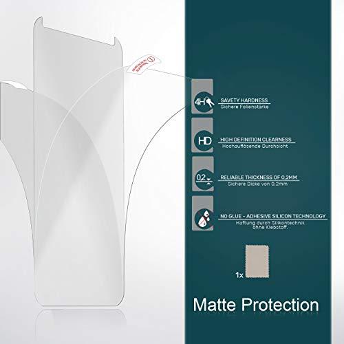 2X Huawei Y7 / Y7 Prime (2017)| Schutzfolie Matt Display Schutz [Anti-Reflex] Screen Protector Fingerprint Handy-Folie Matte Displayschutz-Folie für Huawei Y7 / Y7 Prime (2017) Displayfolie - 6
