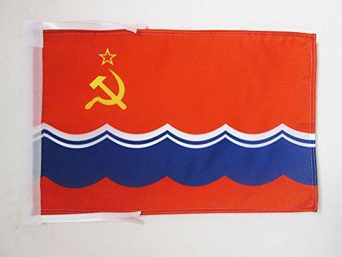 AZ FLAG Bandera de la REPÚBLICA SOCIALISTA SOVIÉTICA DE Estonia 45x30cm - BANDERINA EESTI NSV 30 x 45 cm cordeles
