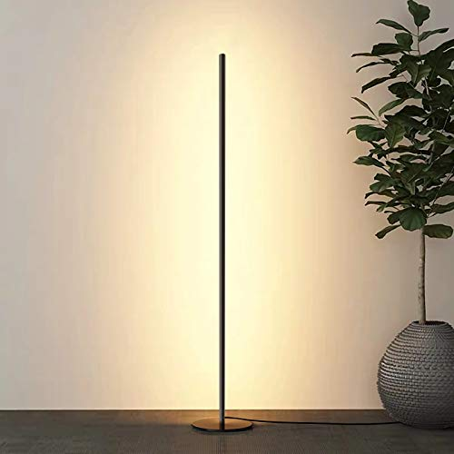 Snowtaros Lámpara de pie LED de 150 cm, 20 W, lámpara de pie con mando a distancia, 3 temperaturas de color y brillo continuo, para salón, dormitorio, oficina (3000 – 6000 Kelvin regulable)