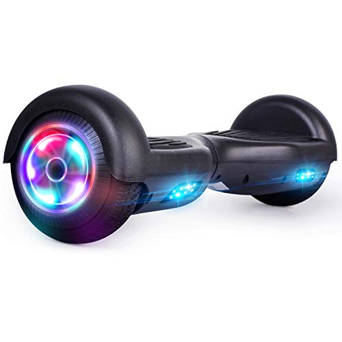 UNI-SUN Hoverboard for Kids, 6.5' Self Balancing Hoverboard with Bluetooth and LED Lights, Bluetooth Hover Board, Black