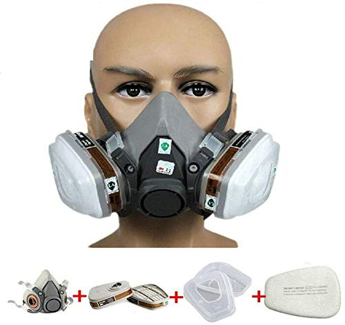 EROCK Half Facepiece Reusable Respirator 6200, Professional Organic Steam Respirator Widely Used in Organic Gas, Paint Spray, Chemical, Woodworking