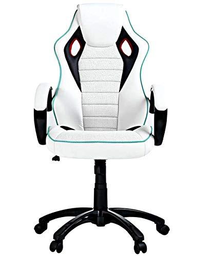 xr X-Rocker - Silla para videojuegos (piel, efecto PU), color blanco