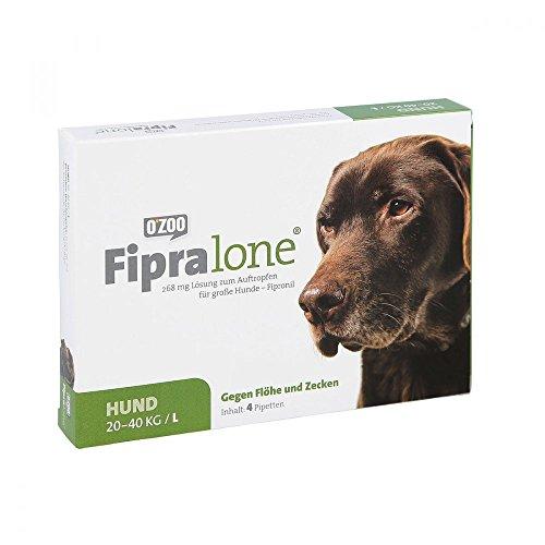 Fipralone 268 mg Lösung zum Auftropfen für große Hunde, 4 St