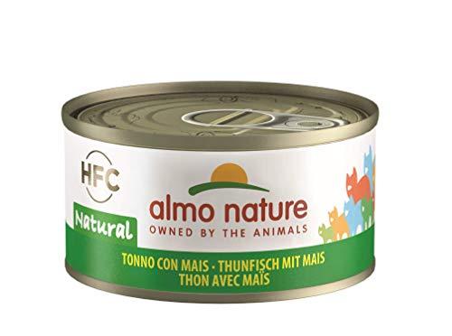 Almo Nature HFC Natural Katzenfutter -Thunfisch mit Mais 24x70 g