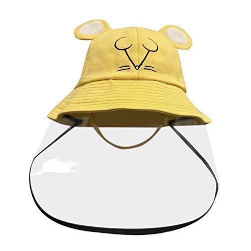 iClosam Baby Sonnenhüte Sommerhut Schutzkappen Schutzvisier Kinder Fischerhüte mit transparente Abdeckung Gesichtsschutzschirm Visier Anti Staub, Anti-Beschlag für 2-8 jährige Kinder