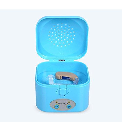 HRRH Deshumidificador de audífonos - Temporizador de 4/8 Horas Secador electrónico Secador portátil Caja de Secado de audífonos