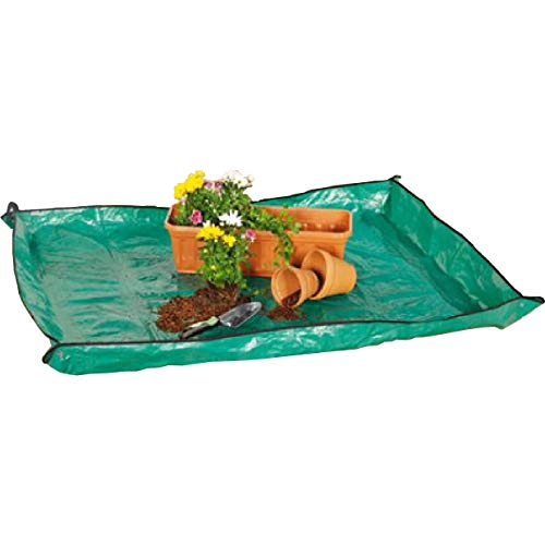 Markenlos Arbeitsunterlage Pflanzunterlage aus Kunststoff Gartenarbeitsunterlage grün (1 große (160 x 125 cm))
