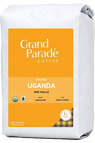 Grand Parade Coffee, 5 LB Unroasted Coffee Beans - Organic Uganda Sipi Falls Single Origin - High Altitude Specialty Arabica - Blue Mountain Blend - Washed Process - Fresh Raw Green Coffee