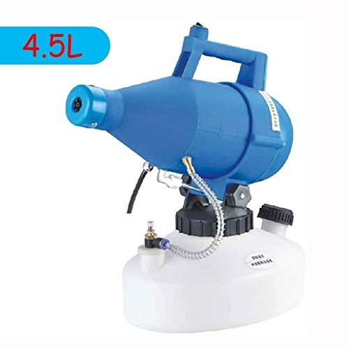 Elektrisches Spritzgerät ULV-Nebelmaschine, Gartenspritze Geringer Kapazität Nebelgerät-Desinfektionsmaschine Zerstäuber Für Farm Hotel School Yard (Color : Blue, Size : 4.5L)