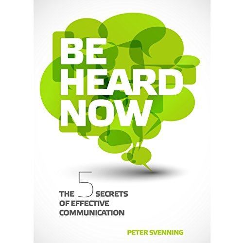 Be Heard Now audiobook cover art