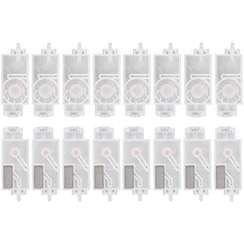 Fransande - Amortiguador de tinta 16 piezas para Mimaki Jv33 Jv5 Cjv30 Roland Mutoh Galaxy Human con color Dx5 cabezal de impresión filtro Dumper