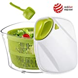 5L Salad Spinner with Lid and Pasta Tongs Design Patent Large Salad Dryer