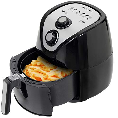 Secura Air Fryer 3.4Qt / 3.2L 1500-Watt Electric Hot XL Air Fryers Oven Oil Free Nonstick Cooker with/Recipes for Frying, Roasting, Grilling, Baking