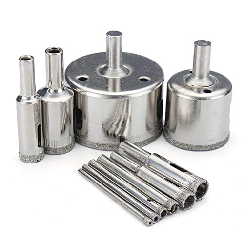 Drill Bits 3-50mm Hole Saw Cutter Set 10Pcs Diamond Coated Drill Bits for Glass Marble Granite YAGMGUS Drill Tool