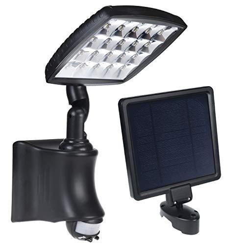 Green Blue GreenBlue GB163 Solar wandlamp met bewegingsmelder LED PIR IP44 2800mAh 280lm, zwart