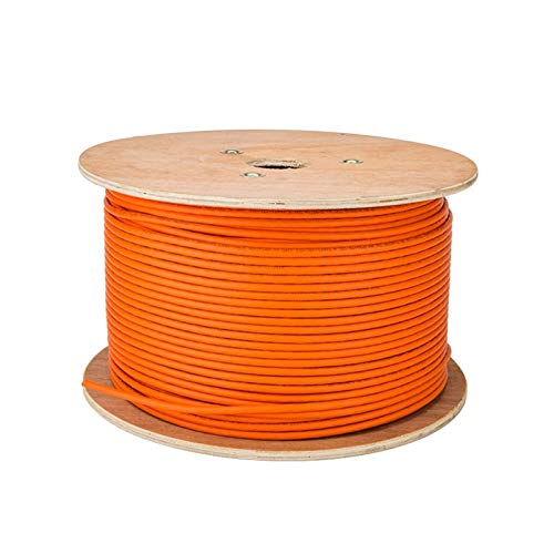 Lpgg-ZZ Câble Réseau Ethernet Câble D'installation Orange De 10g 600 MHz 23AWG 0.57mm Fil De Cuivre Pur À Double Blindage (Color : 30m)