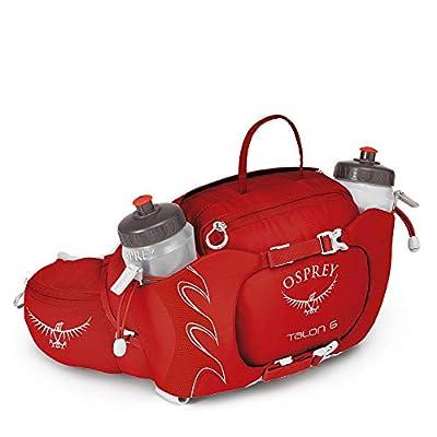 Osprey Talon 6 Unisex Hiking Lumbar Hydration Pack with 2X 570ml BPA Free Hydraulics™ Bottles