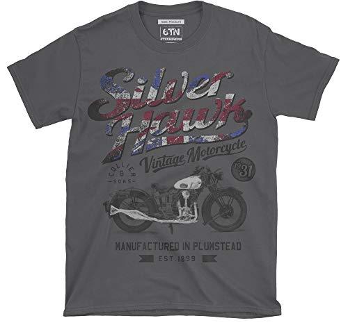 6TN silverhawk Camiseta con Motocicleta - Carbón, XX-Large