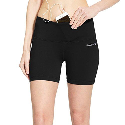BALEAF Women's 5' Volleyball Biker Running Yoga Shorts Spandex Compression High...