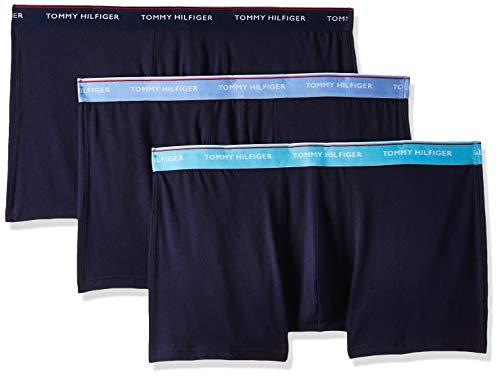 Tommy Hilfiger Herren 3p Wb Trunk Boxershorts, Beige (Blue Grotto/Cornflower Blue/Navy Bl), XX-Large (Herstellergröße:)