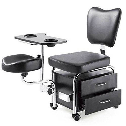 Manicure Pedicure Nail Station Chair Beauty Table Desk Stool Spa Drawers PED1