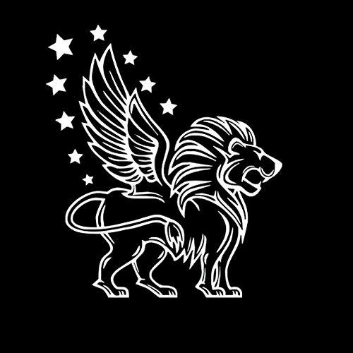 FAFPAY Sticker de Carro 15,6x18 cm león con alas Rey de los niños calcomanías de Vinilo Lindas Pegatinas de Coche Estilo Coche S6-2076Plata