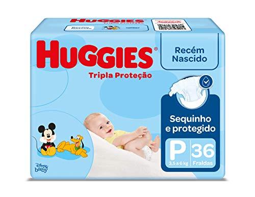 Fralda Huggies Tripla Proteção Jumbo P, 36 Fraldas