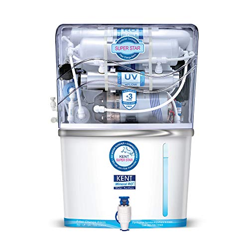 KENT Super Star 8-litres Wall Mountable RO + UV/UF + TDS Controller (White) 15-Ltr/hr Water Purifier