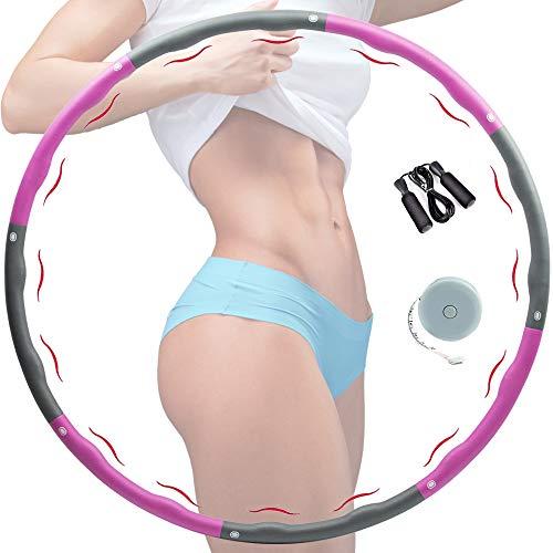 Hula Hoop Reifen Erwachsene, Hula Hoop Fitness Reifen zur Gewichtsreduktion, Hula-Hoop für Erwachsene & Kinder, 8 Abschnitte des abnehmbaren Hoola Hoop für Fitness/Sport/Zuhause/BüRo/Bauchformung