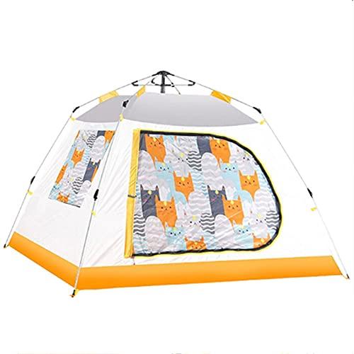 XinBao Tienda 3-4 Personas Camping Al Aire Libre a Prueba de Lluvia Tienda Automática para Niños Casa de Juegos Interior Amarillo 78,74x78,74x55,11 Pulgadas