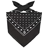 Stetson Pañuelo Bandana Mujer/Hombre - Cinta para la Cabeza Verano/Invierno - Talla única Negro