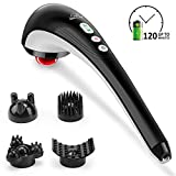 Snailax Cordless Handheld Back Massager - Rechargeable Percussion Massage with Heat, Deep Tissue Massager for Neck Shoulder Waist Leg Foot Back Pain Relief, Portable Wand Massager for Full Body