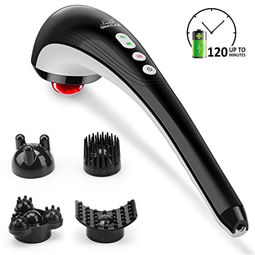 Snailax Cordless Handheld Back Massager - Rechargeable Percussion Massage with Heat, Deep Tissue...