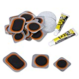 Bicycle Inner Tube Patch Kit - 21 PCS - Reliable Bike Tire Puncture Repair Kits , sandpaper, Rubber Cement and Portable Storage Box - for Road, Mountain & BMX Bikes, ATV and More Inflatable Rubber.
