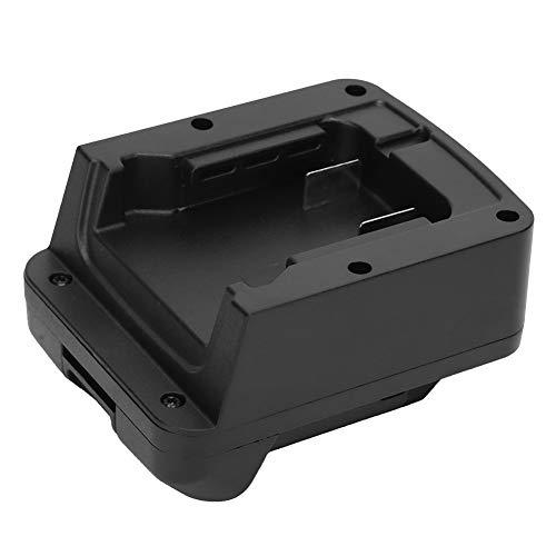 Voluxe Adaptador de batería, Adaptador de batería para Milwaukee, Negro Resistente al Desgaste Práctico ABS para Milwaukee M18 Batería de lipo-Ion Bl1840 Batería de lipo-Ion