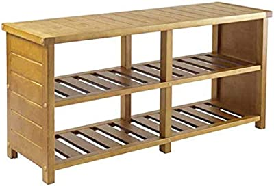 Amazon.com: Festnight Wooden Shoe Rack Entryway Storage ...