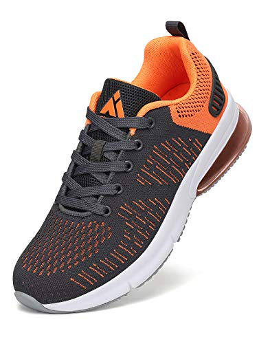 Mishansha Herren Laufschuhe Atmungsaktiv Sportschuhe Damen Trail Fitnessschuhe Grau 44