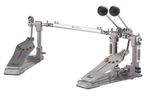 Pearl P-932 Bass Drum Twin Pedal with Interchangeable Cam, Chrome