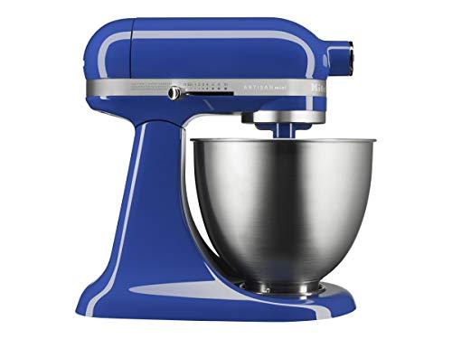 KitchenAid KSM3311XTB Artisan Mini Series Tilt-Head Stand Mixer, 3.5 quart, Twilight Blue (Renewed)