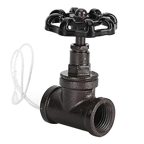 Eulbevoli Válvula de Hierro, válvula fácil de Instalar, Simple y práctica para luz de plomería u Otra iluminación