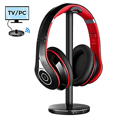 Mpow Wireless Headphones for TV, Bluetooth Headphones Over Ear with BT5.0 Transmitter, 30m/100ft Wireless Range, High Volume Headset Ideal for Seniors & Hearing Impaired, Plug n Play, No Audio Delay