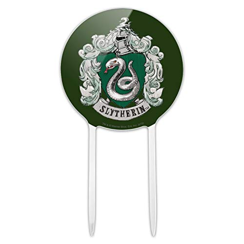 GRAPHICS & MORE Acrylic Harry Potter Slytherin Painted Crest Cake Topper Party Decoration for Wedding Anniversary Birthday Graduation