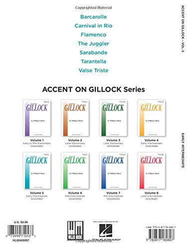 Accent on Gillock Volume 5: Early Intermediate Level