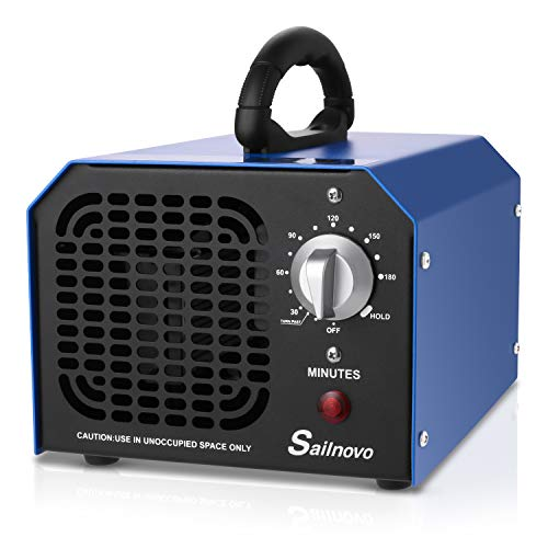 Sailnovo  Generator 6000mg/h Ozone Machine Home Air Ionizers Deodorizer for Rooms, Smoke, Cars and Pets