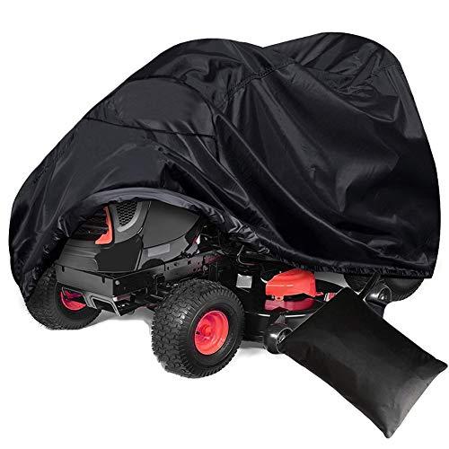 NICEWL Abdeckung für Rasenmäher, für den Außenbereich, Rasentraktor, Sonnenschutz, elektrischer Unkrautschutz, staubdicht, langlebig, wasserfest, mit Oxford-Zugband, Aufbewahrungstasche, L